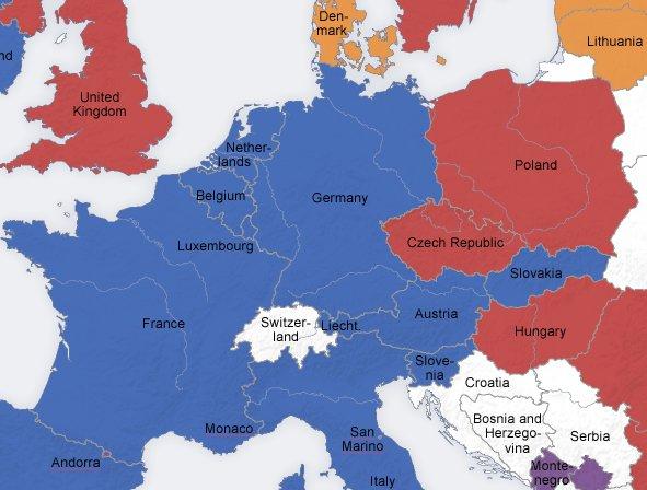 Europakarte mit namen